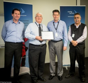 The team from Mackay Rubber presented with their certificate of completion by Stephen Lakotij, DIIC
