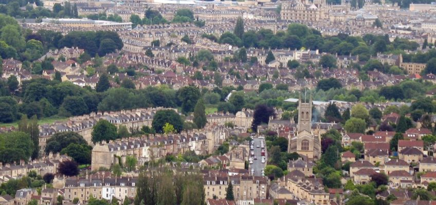 View Bath from Solsbury Hill. A wake up call